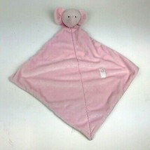 CARTERS Precious Firsts PASTEL PINK Elephant SECURITY Blanket LOVEY Velo... - $21.78