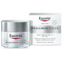 Eucerin Hyaluron Filler Day Cream SPF 15, 50ml [BB 12/21] [New&Sealed] - $20.25