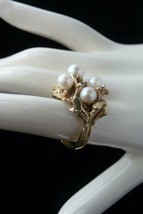 VINTAGE 14K PEARL RING Cultured AKOYA - size 6.25 - $777.15