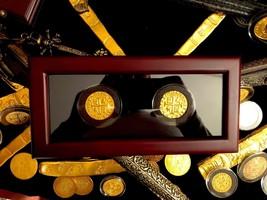 PERU 1708 8 ESCUDOS  GOLD COB TREASURE COIN 2 PIECE BOX SET W GLASS DIPL... - $699.00