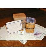 Longaberger 1997 JW Miniature Waste Basket Combo Complete New On Box Aut... - $89.05
