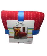 Fiesta Reversible Quilt Set with 2  Shams, King  Scarlet Red/Tangerine O... - $89.99