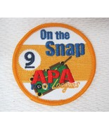 Older APA Leagues On The Snap Patch Yellow Pool Hall Billiards Ball Jack... - $14.36