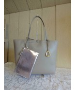 $178.00 Lauren Ralph Lauren Merrimack Reversible Faux Leather Tote, Taup... - $113.85