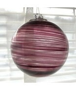 "Hanging Glass Ball 4"" Diameter Purple Swirls Friendship Ball (1) HB47 - £12.44 GBP"