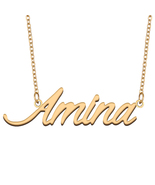 Amina Name Necklace for Best Friends Family Girl Friend Birthday Gifts - $13.99+