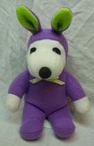 "Peanuts SNOOPY IN PURPLE & GREEN EASTER BUNNY COSTUME 8"" Plush Stuffed A... - $14.85"