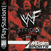 WWF Attitude Playstation PS1  Complete CIB - $10.66