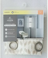 (1) JCPenney Home Rockford Sheer Grommet-Top Curtain Panels Classic Khak... - $39.39