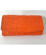 Women Party Clutch Orange Holster Crocodile Hand Bag Alligator Real Leat... - $244.99