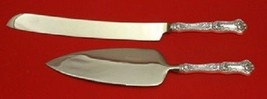 Peony By Wallace Sterling Silver Wedding Cake Serving Set HHWS 2pc Custom - $198.55