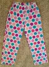 Target Girls Size XL Polka Dot Fuzzy Pajama Pants Bottoms - $4.46