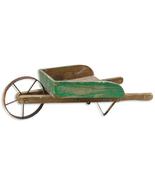 Rustic WOODEN WHEELBARROW Country Farmhouse Primitive Garden Planter Yar... - $63.99