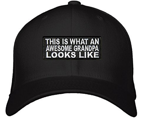 This Is What An Awesome Grandpa Looks Like Hat - Adjustable Black Cap