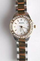 Bulova 22 Diamond Two-Tone Stainless Steel MOP Dial Ladies Watch 98R236 image 4