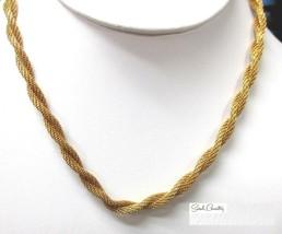 Vintage Sarah Coventry  Jewelry - #8953  Golfden Braids Choker - $19.31