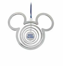 NWT Disney Store Authentic Mickey Mouse Icon Silver Christmas Ornament  - $14.80