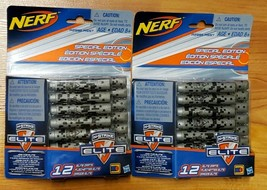Nerf N-Strike Special Edition Elite Darts TWO PACKS OF 12 - Total 24 Gray Darts - $9.75