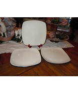 3 Corning Corelle Hearthstone Square Stoneware Dinner Plate - Off White ... - $39.59