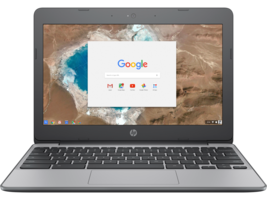 "HP - 11"" HD Chromebook (Celeron N3060, 4G, 16G eMMC) 11-v069cl Ash gray - $284.99"