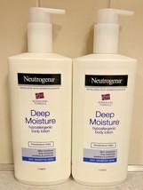 (2) Neutrogena Norwegian Formula Deep Moisture Body Lotion Hypoallergenic 13.5oz - $34.95