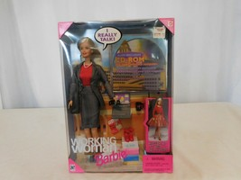 Barbie Mattel 1999 Working Woman Talking Barbie + Accessories & CD-Rom NRFB  - $22.78