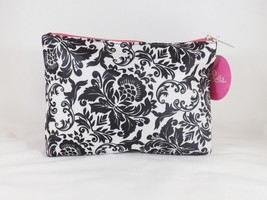 Modella Black & White Zippered Clutch Cosmetic Travel Case Bag Pouch - New image 2