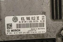 2014 VW Passat 2.0 tdi Diesel Module Computer ECM ECU 03L-906-012-DE image 2