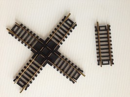 "HO scale 90 Degree Brass Cross Track & 1 ea 3"" Short Track - $7.89"