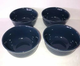 Royal Norfolk Blue Cereal/Serving Bowl Set of 4-Micro Safe-NEW-RARE-SHIP - $30.11