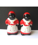 Black Americana Aunt Jemima Salt and Pepper Shaker Set - Three Sets Avai... - $10.00