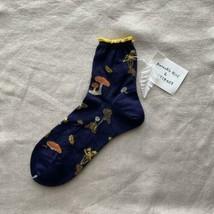 Nathalie Lete Antipast Seta Socks Navy Amarillo Mujer Talla Única De Japón - $159.77