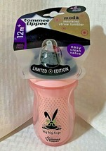 Tommee Tippie Moda Insulated Straw Cup Tumbler Limited Edition Bunny BPA... - $19.99