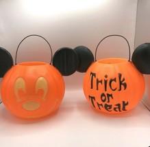 2 x  Disney Parks Mickey Mouse Jack-o-Lantern Trick or Treat Halloween B... - $59.39