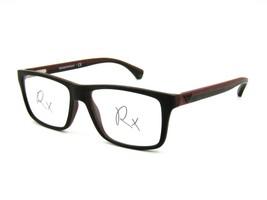Emporio Armani EA 3034 Men's Eyeglasses Frame 5614 Rubberized Black / Brown #93E - $44.50