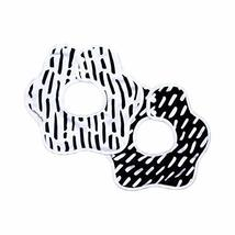 Tiny Twinkle Roundabout Bibs 2 Pack - Black and White Set, 360 Rotating Waterpro