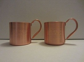 Set of 2 Makers Mark Kentucky Bourbon Whiskey Solid Copper Moscow Mule M... - $99.99