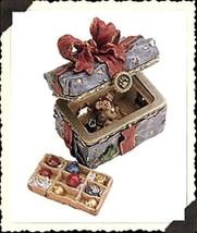 "Boyds Bears Treasure Box ""Topper's Ornament Box w/ Tangle McNibble"" #83012 -NIB- - $24.99"