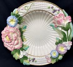 Vtg Fitz & Floyd Large Centerpiece Bowl Multi Color Spring Summer Floral - $49.99