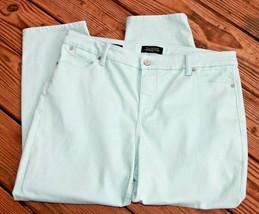 Talbots Size 16 Petite Flawless Five Pocket Petites Slim Ankle Jeans Sea Foam - $18.99