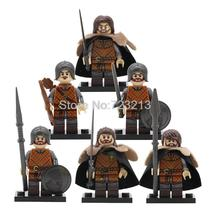 6pcs/set Game of Thrones Soldiers of Winterfell Eddard Stark Minifigures Lego - $9.99
