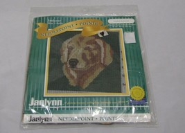 "Janlynn Mini Golden Retriever Needlepoint Kit #120-25 6"" x 6"" NEW - $16.33"