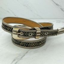 Silver Mesh and Animal Snakeskin Print Belt Size Medium Womens - $28.65