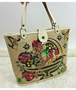 Fruit Bowl Embellished Handbag Purse Vintage Cooper of California 1960s - $148.49