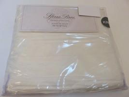 Sferra Allegro Long Staple Sateen 4P King Sheet Set Ivory 600tc Egypt Cotn Italy - $320.05