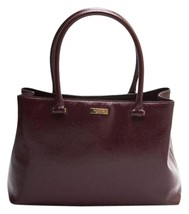 Kate Spade Bixby Place Elena Mulled Wine Patent Saffiano Leather Satchel... - $179.00