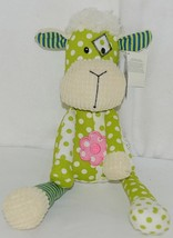 GANZ Brand HE9981 Green and White Polka Dot Color Plush Quiltees Lamb - $15.00