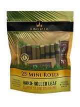 King Palm Mini Size Natural Pre Wrap Palm Leafs 25 Pack