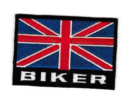 """United Kingdom Flag 3"""" x 2"""" Iron on Patch Motorcycle Jacket England Bike... - $14.21"""