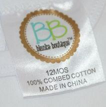 Blanks Boutique White Long Sleeve Bodysuit 12 Months Unisex image 4